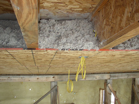 Insulation, in situ.