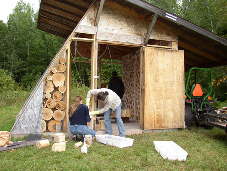 Cordwood construction nerdwood for Cordwood shed