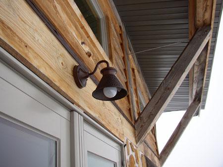 Code requires a light over every exterior door...